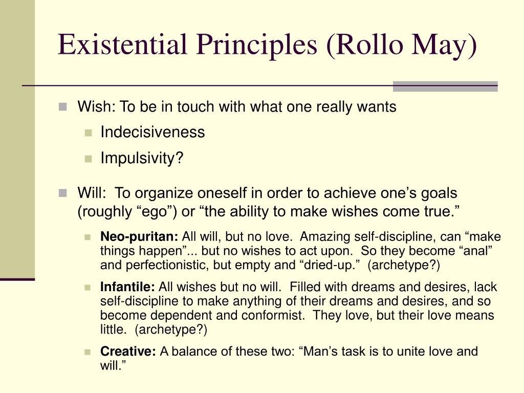Existential Principles (Rollo May)