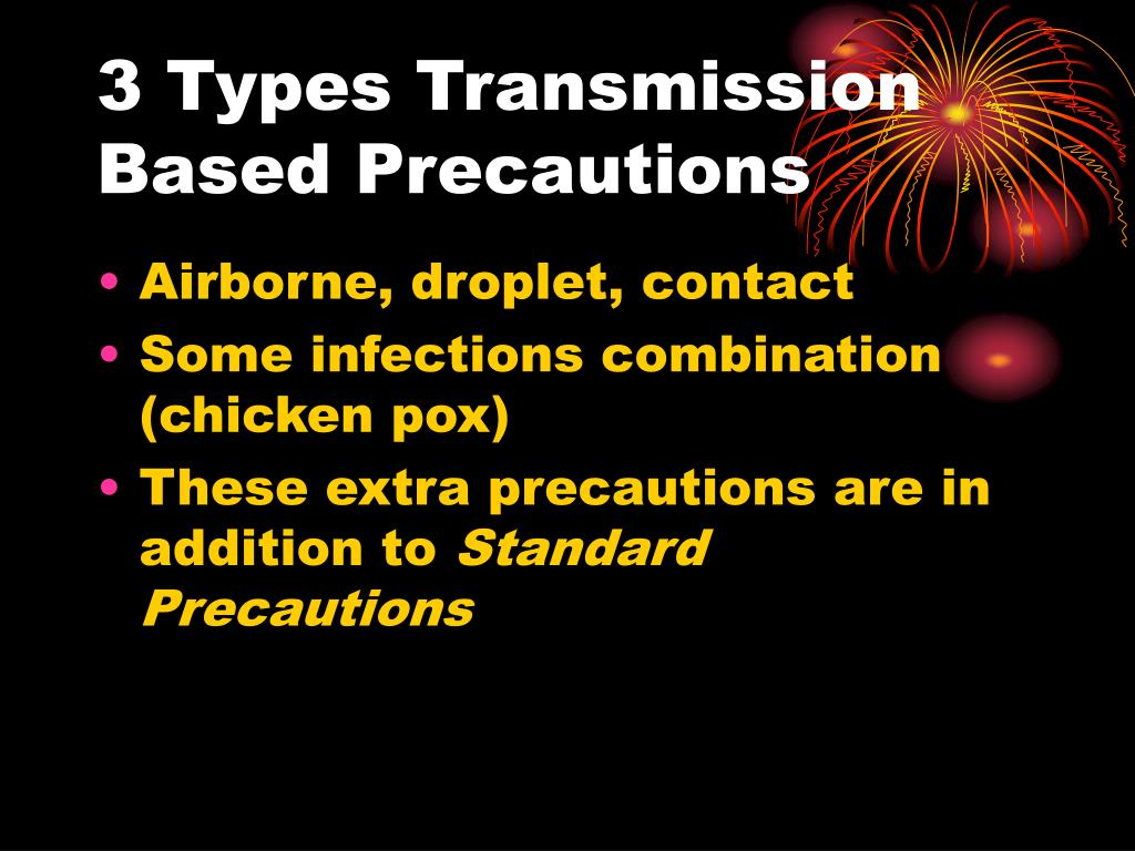 3 Types Transmission Based Precautions