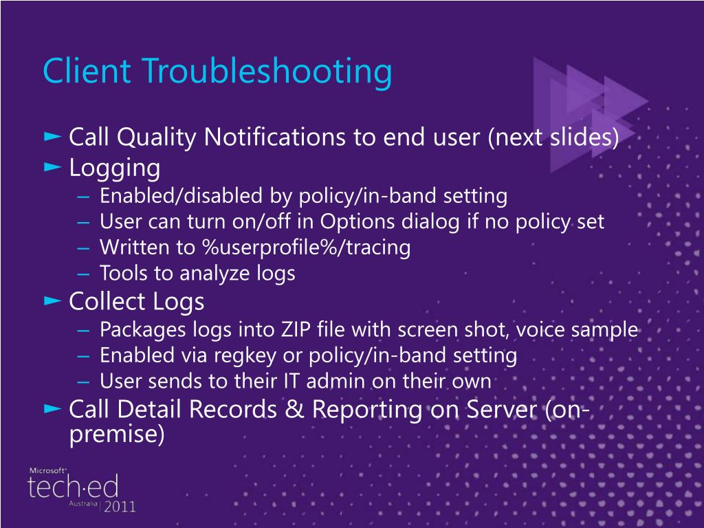 Client Troubleshooting