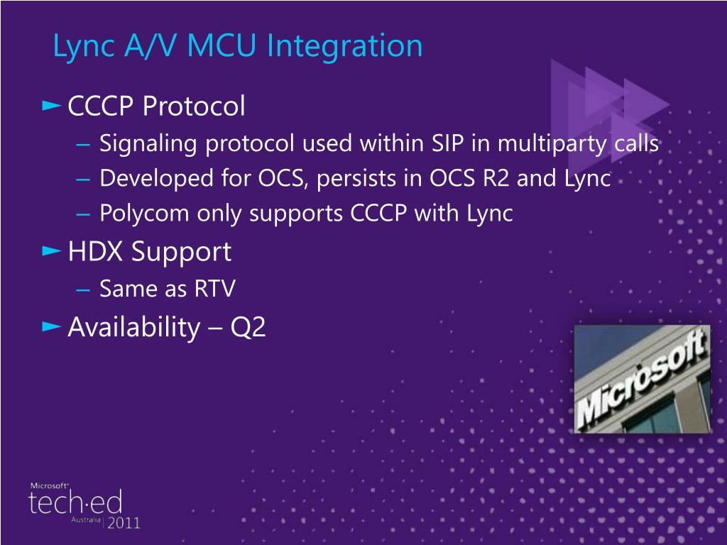 Lync A/V MCU Integration