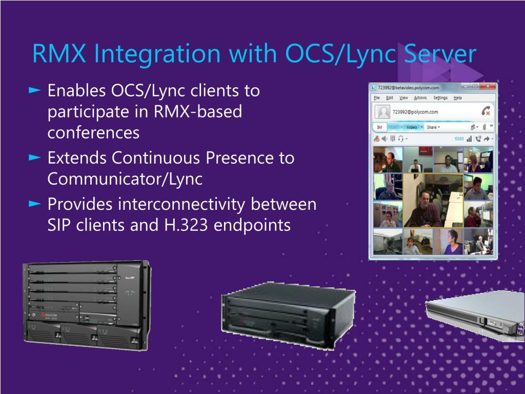 RMX Integration with OCS/