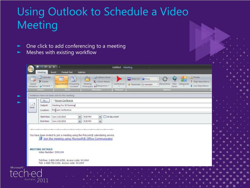 Using Outlook to Schedule a Video Meeting