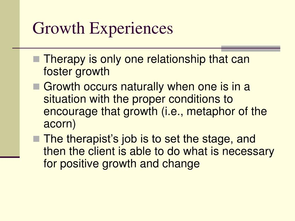 Growth Experiences
