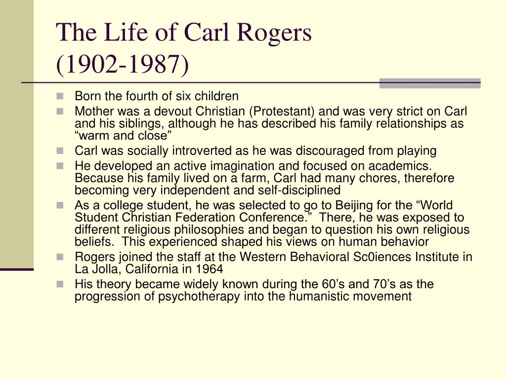 The Life of Carl Rogers
