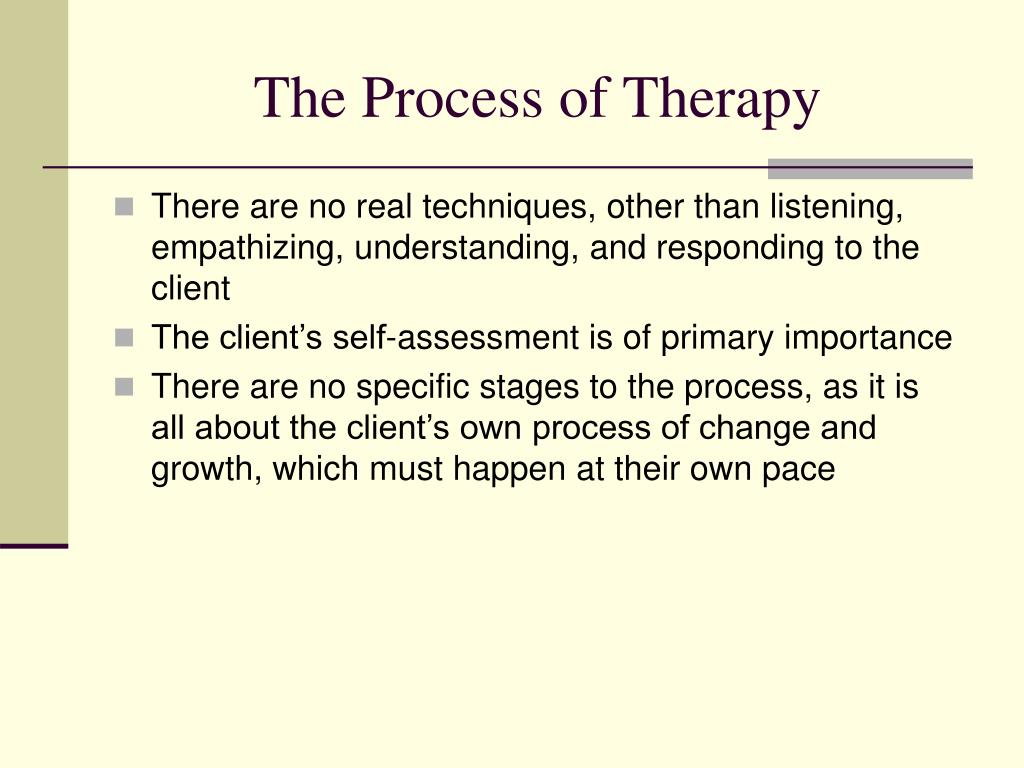 The Process of Therapy