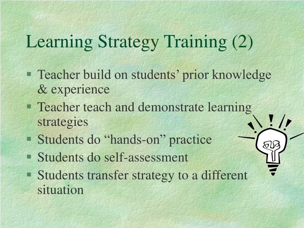 Learning Strategy Training (2)