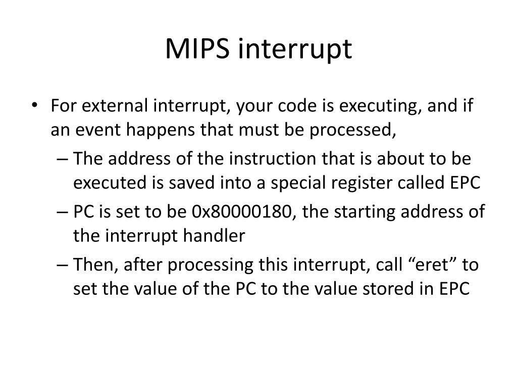 MIPS interrupt