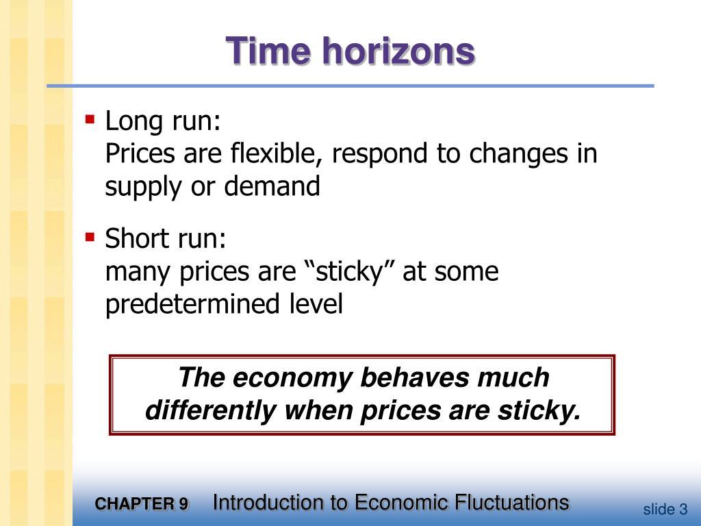 Time horizons