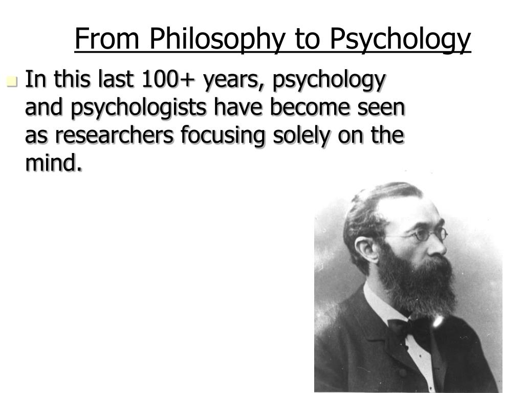 From Philosophy to Psychology