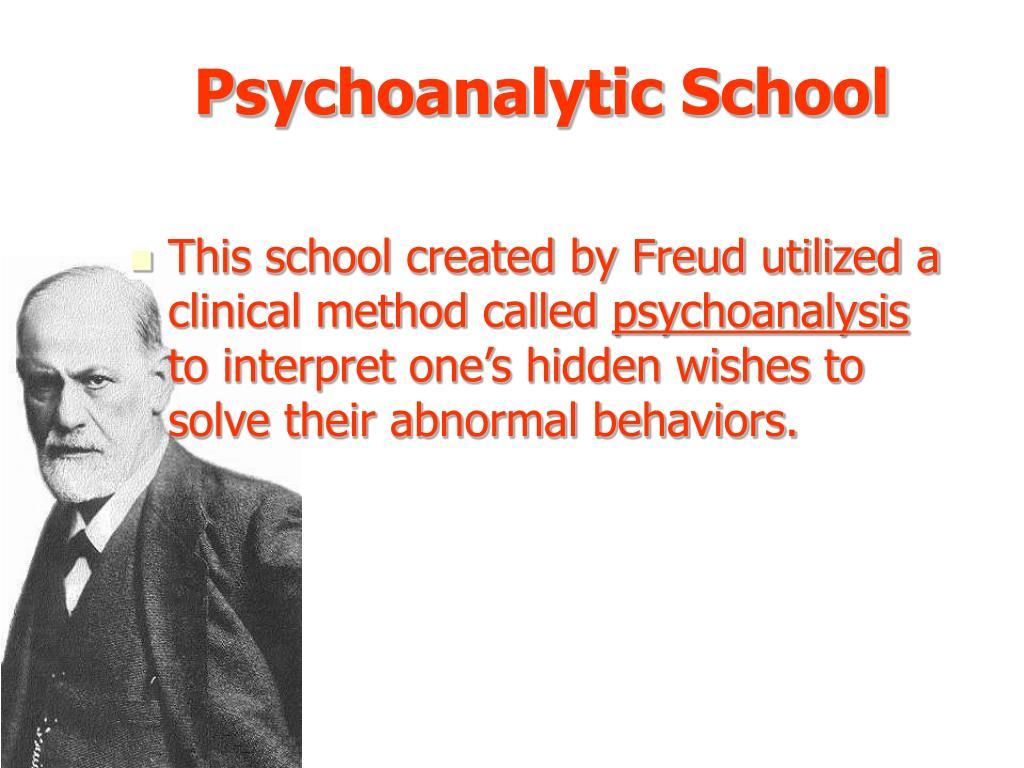Psychoanalytic School