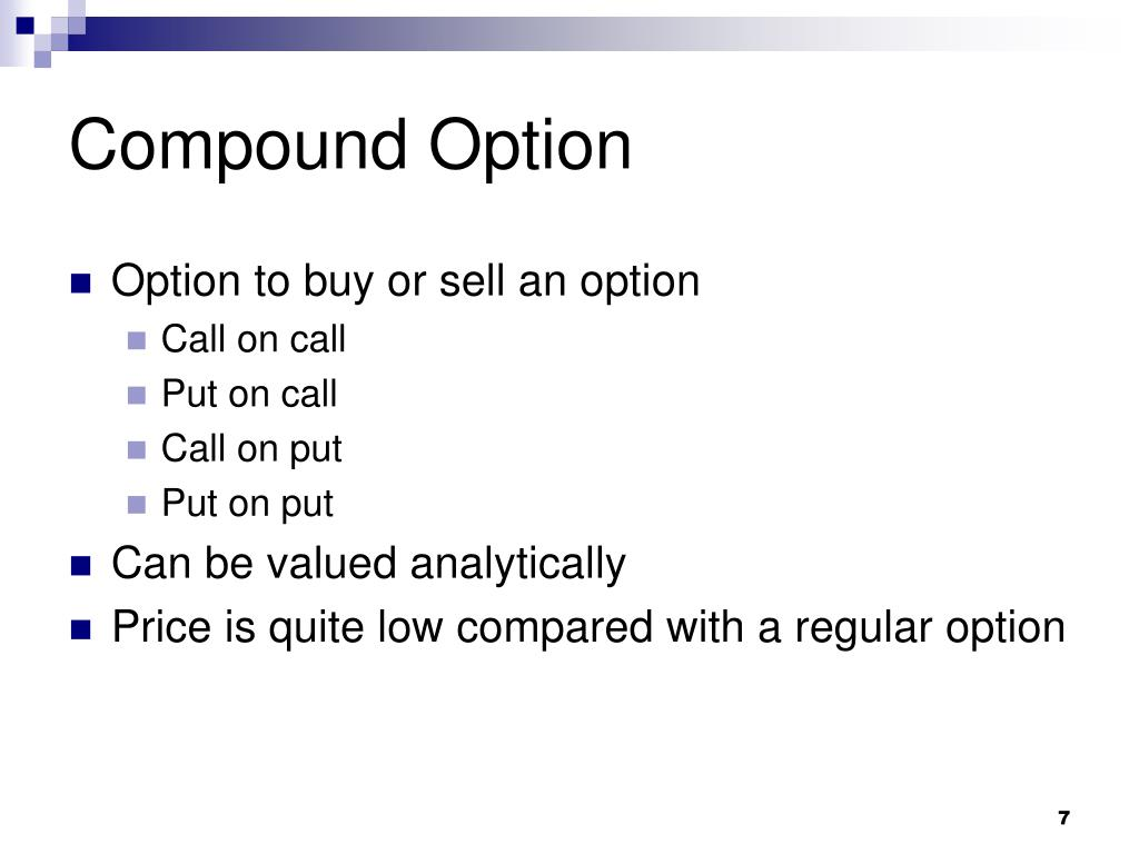Compound Option