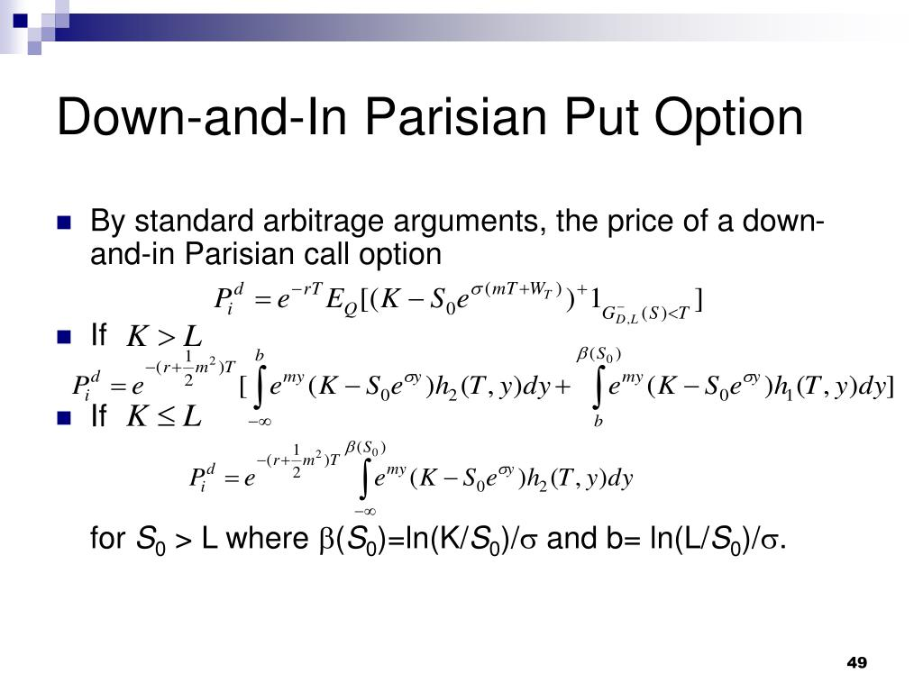 Down-and-In Parisian Put Option
