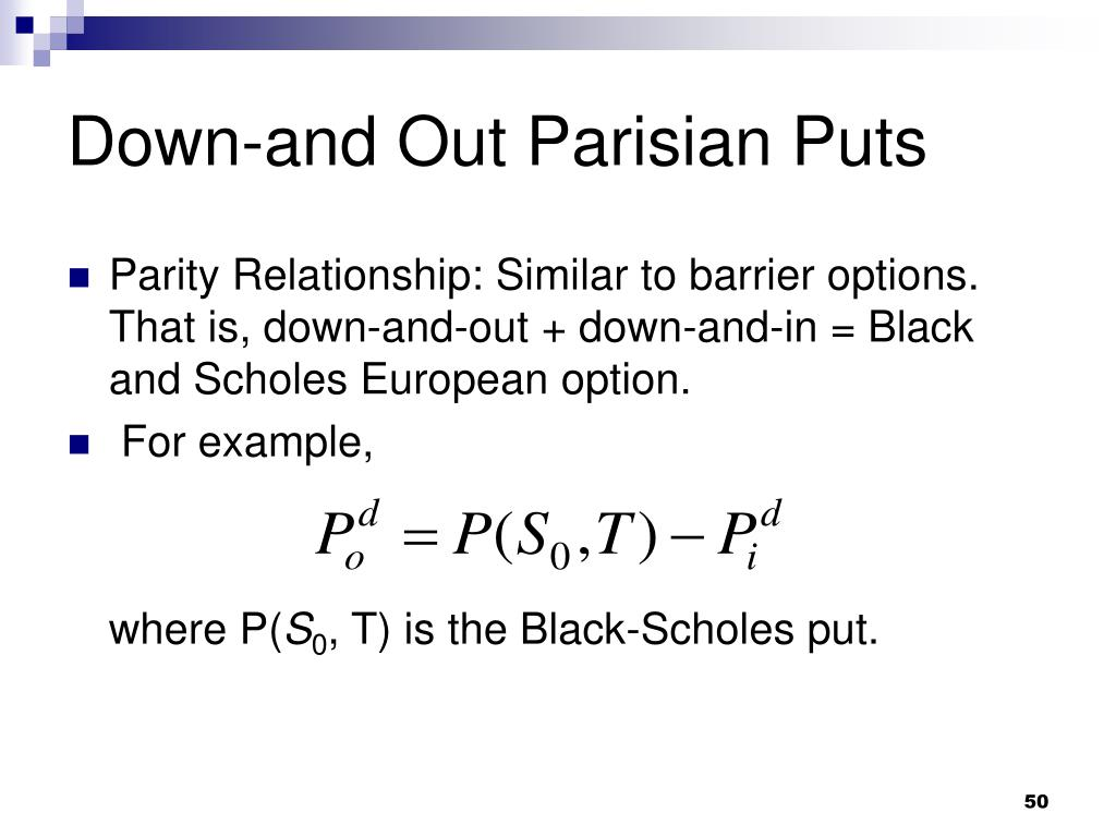 Down-and Out Parisian Puts