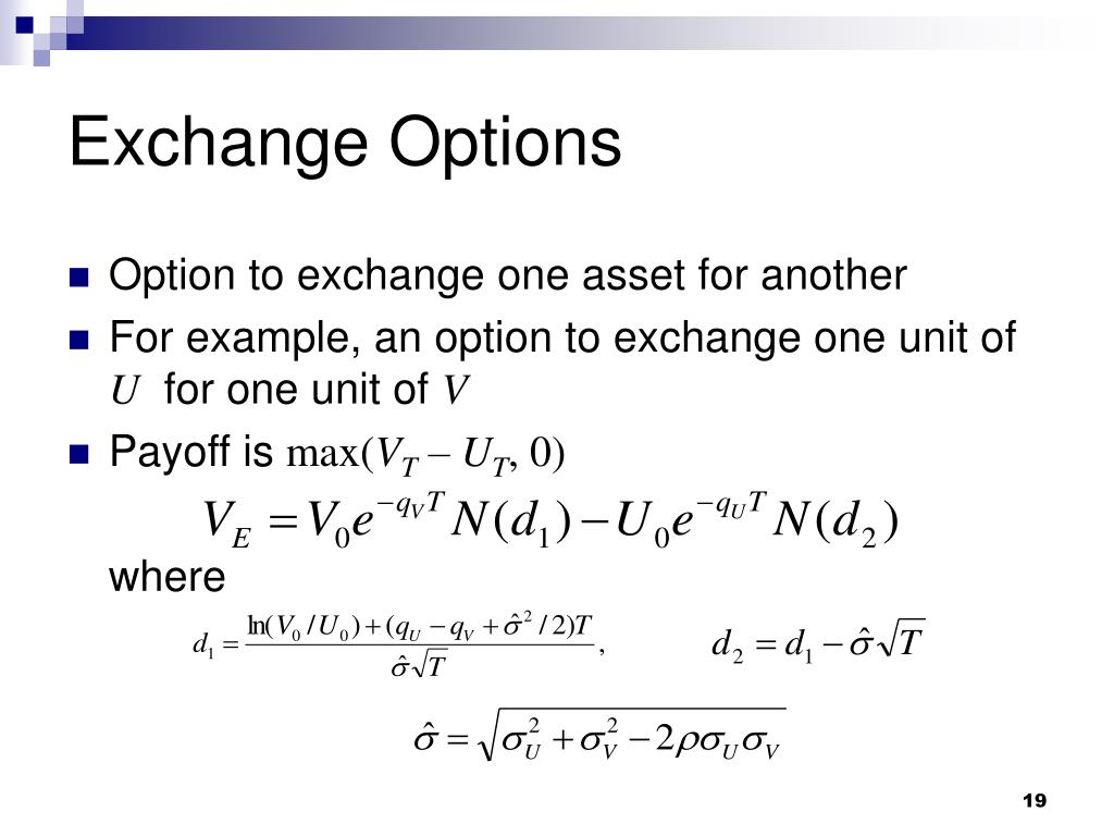 Exchange Options
