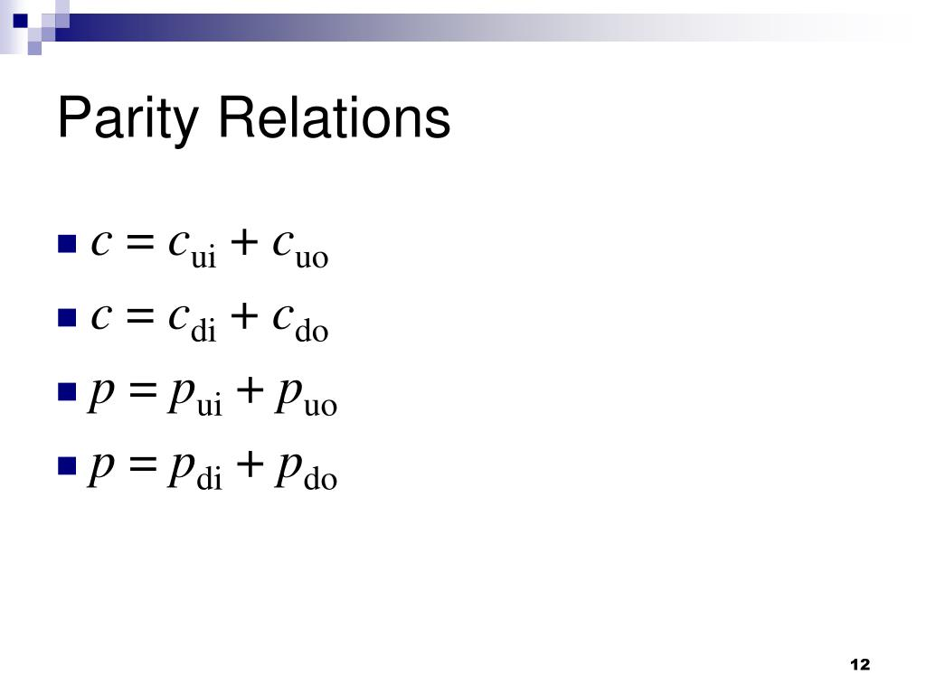 Parity Relations