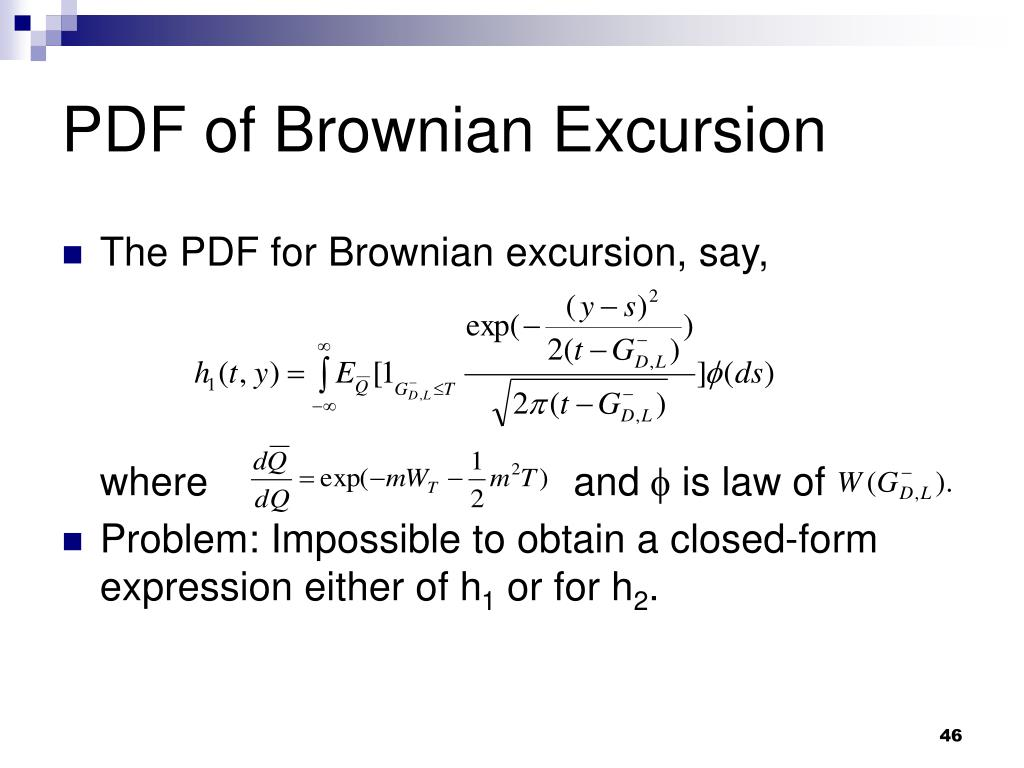 PDF of Brownian Excursion