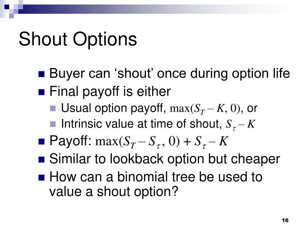 Shout Options