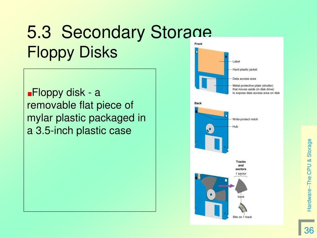 5.3  Secondary Storage