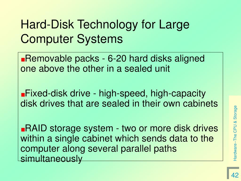 Hard-Disk Technology for Large Computer Systems