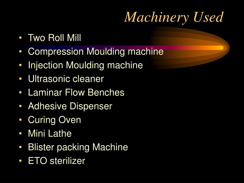 Machinery Used