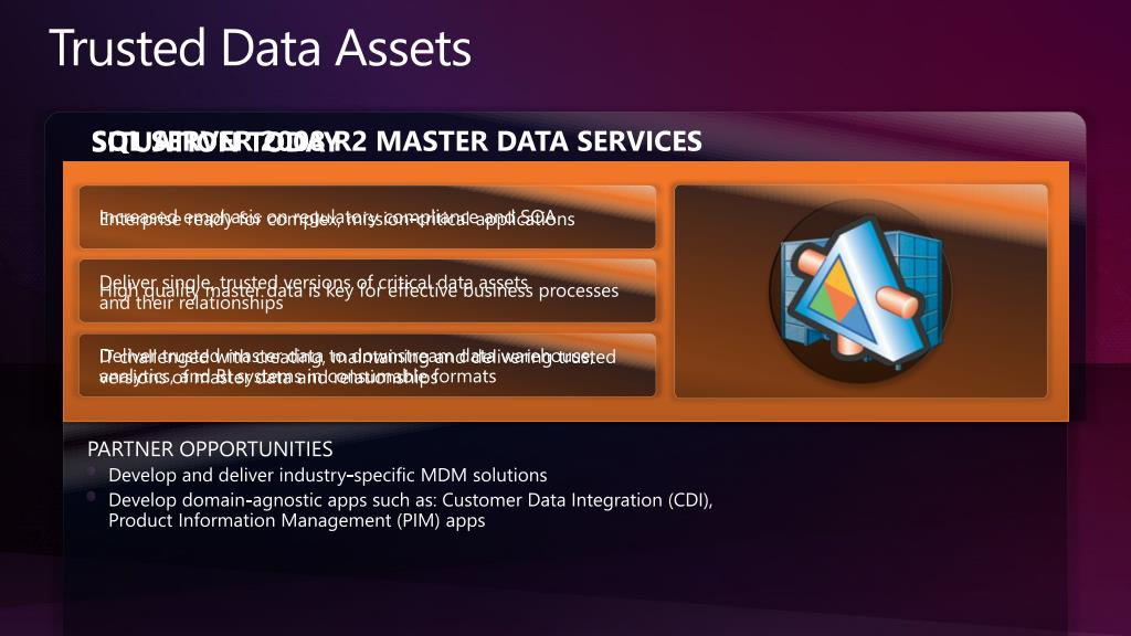 Trusted Data Assets