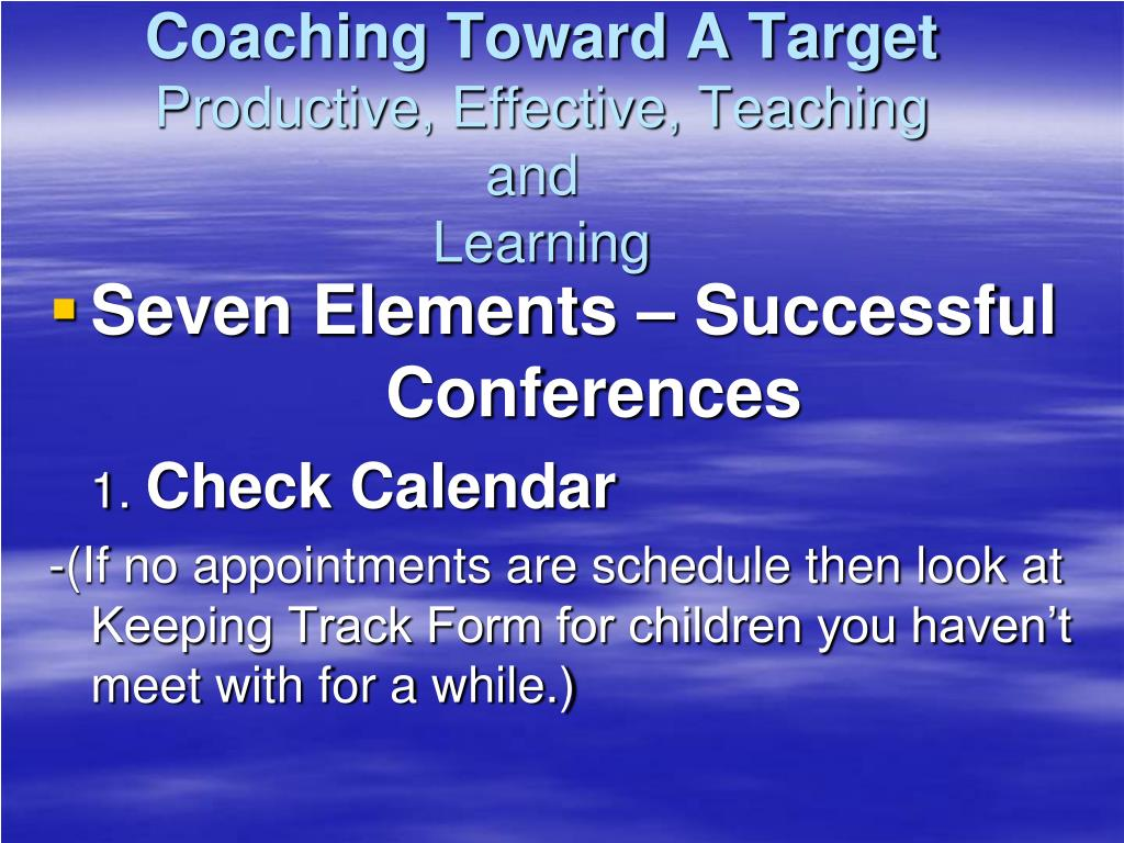 Coaching Toward A Target