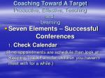 coaching toward a target productive effective teaching and learning