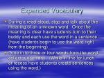 expanded vocabulary