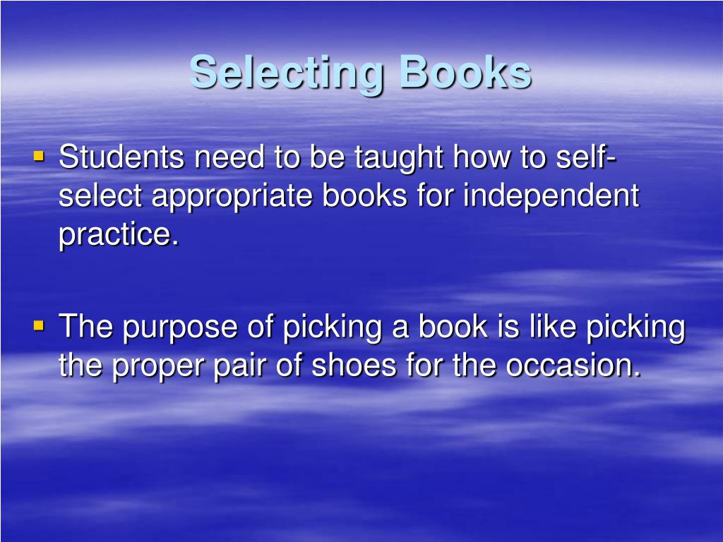 Selecting Books