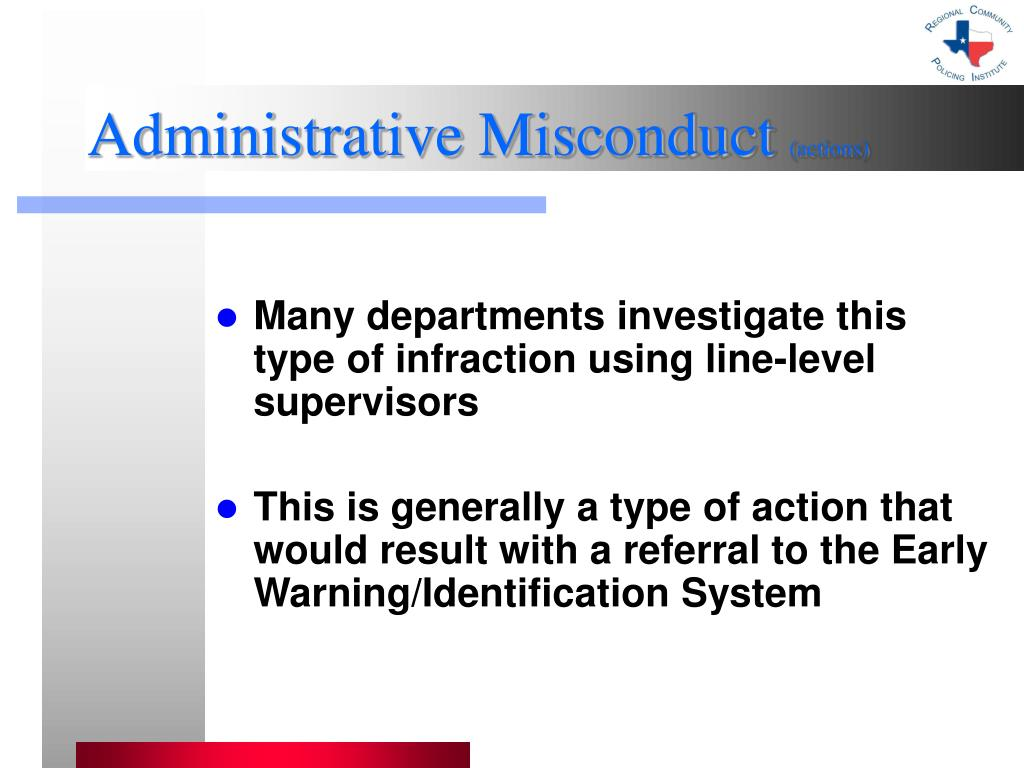 Administrative Misconduct
