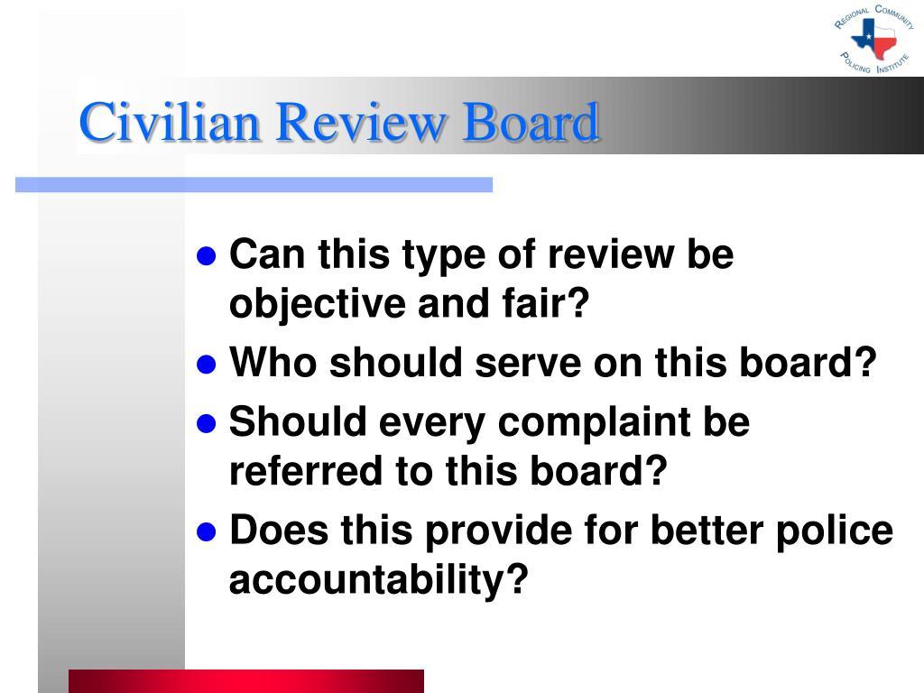 Civilian Review Board