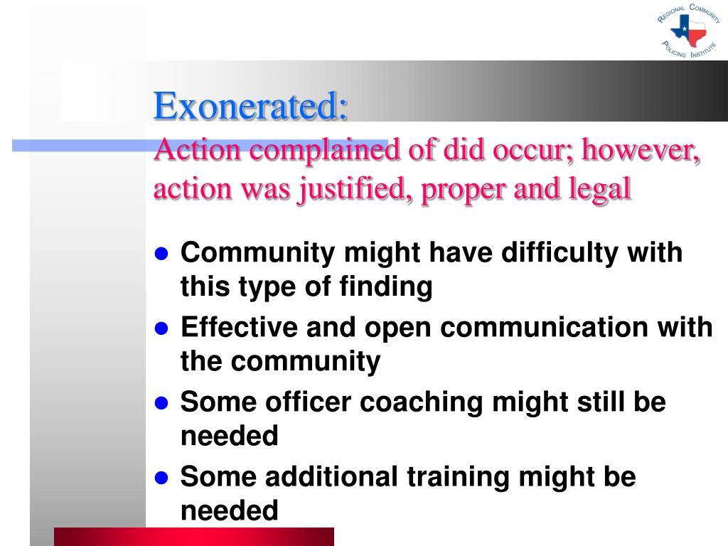 Exonerated: