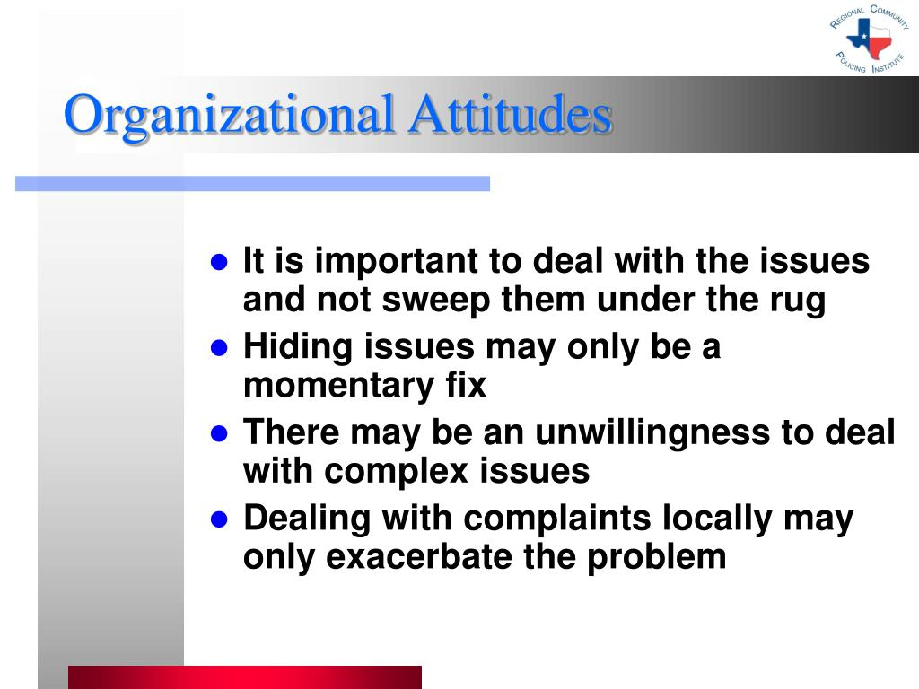 Organizational Attitudes