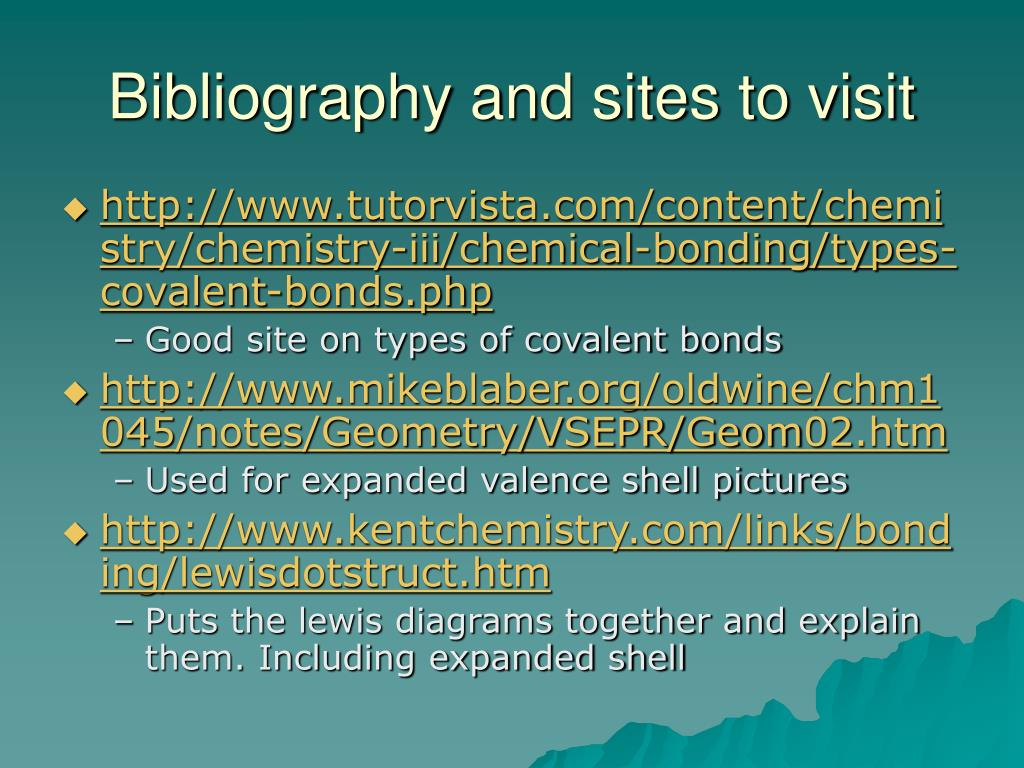 Bibliography and sites to visit