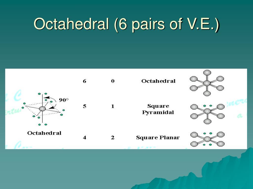 Octahedral (6 pairs of V.E.)
