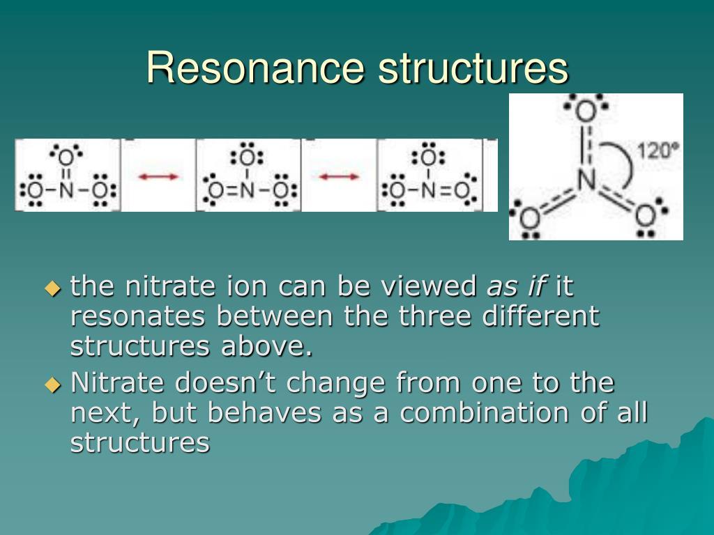 Resonance structures