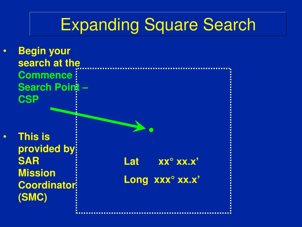 Expanding Square Search