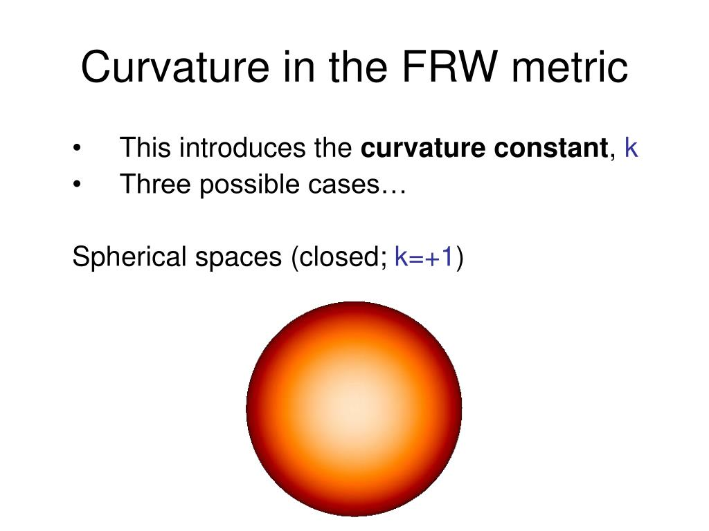 Curvature in the FRW metric