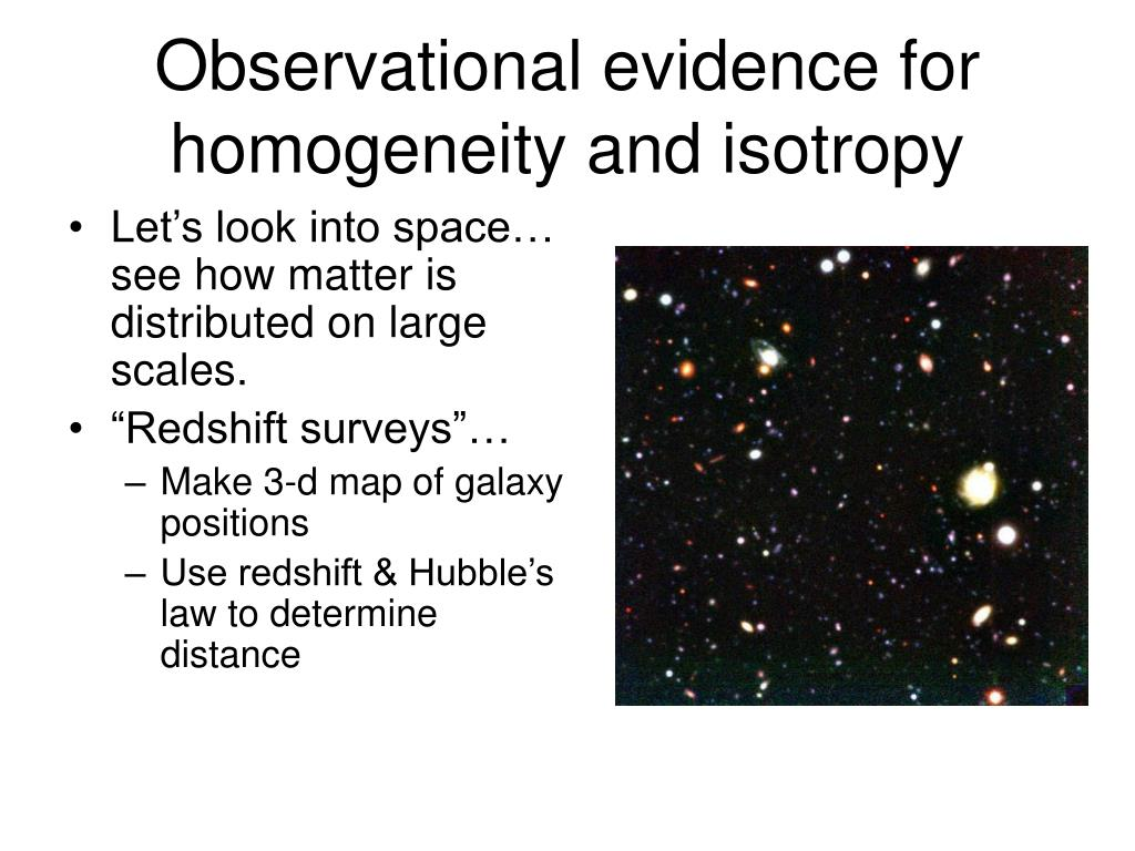 Observational evidence for homogeneity and isotropy