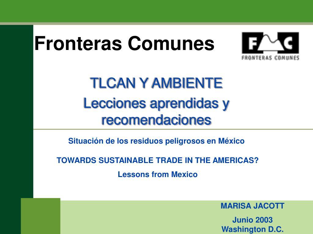 Fronteras Comunes