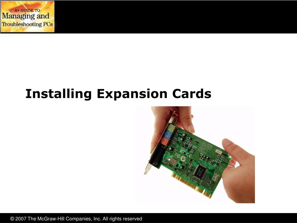 Installing Expansion Cards