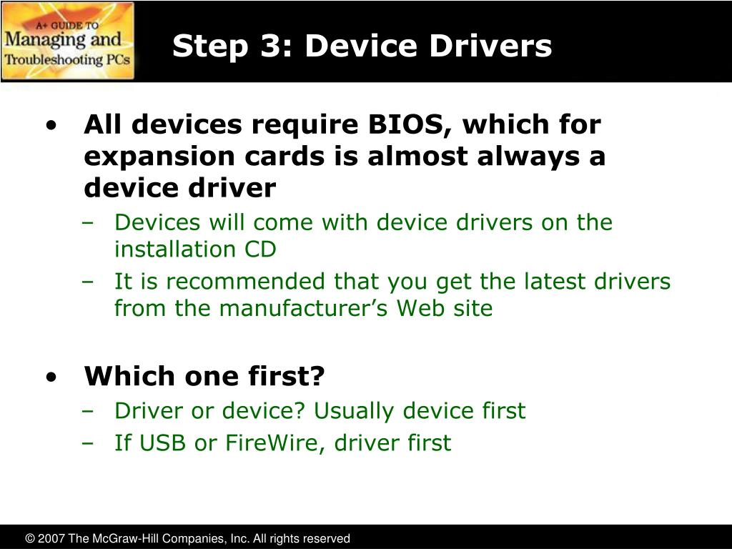 Step 3: Device Drivers