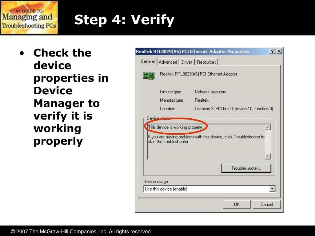 Step 4: Verify