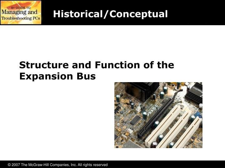 Structure and function of the expansion bus