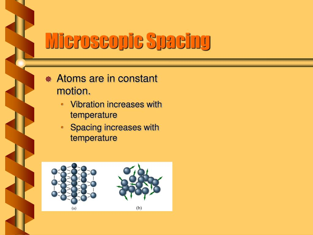 Atoms are in constant motion.