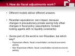1 how do fiscal adjustments work