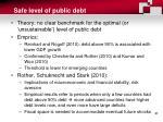 safe level of public debt