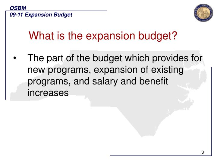 What is the expansion budget