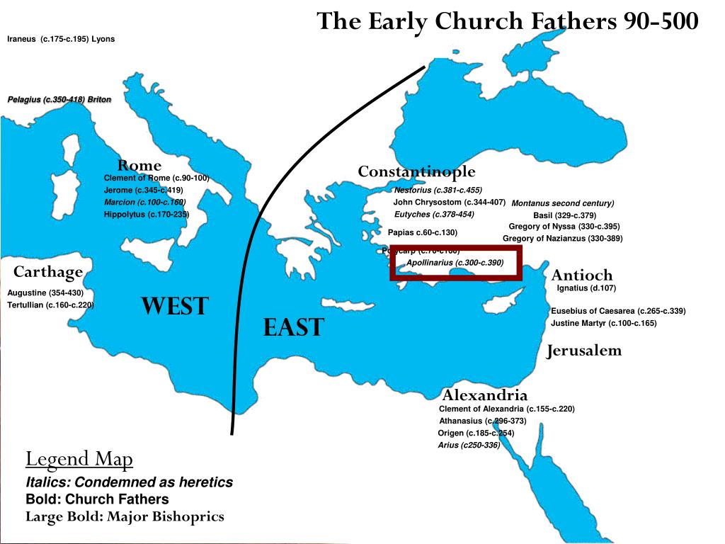 The Early Church Fathers 90-500