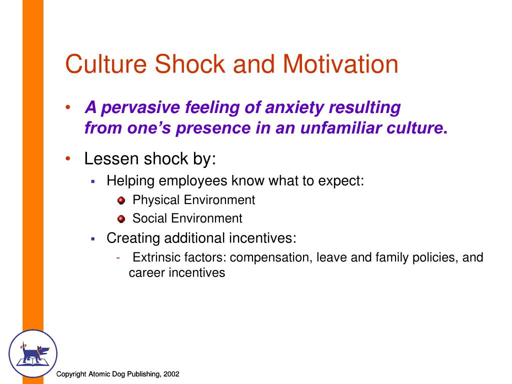 Culture Shock and Motivation